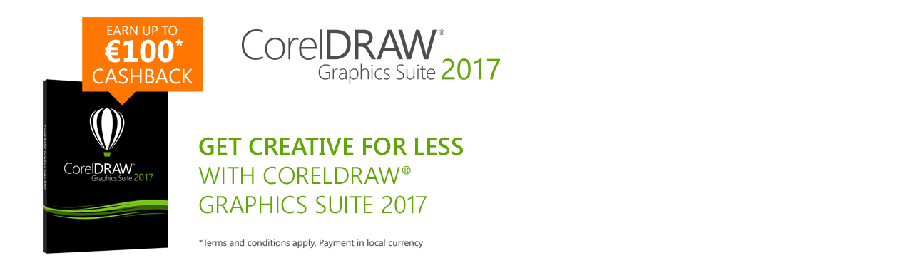 Corel DRAW Graphics Suite 2017 Cashback Campaign